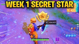 Week 1 SECRET Battle Star LOCATION in Fortnite Season 6 (Fortnite Battle Royale)