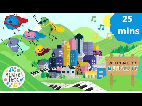 Musical Dots | 25 Minute Medley | Big Tunes for Little People! | Educational Songs for Kids