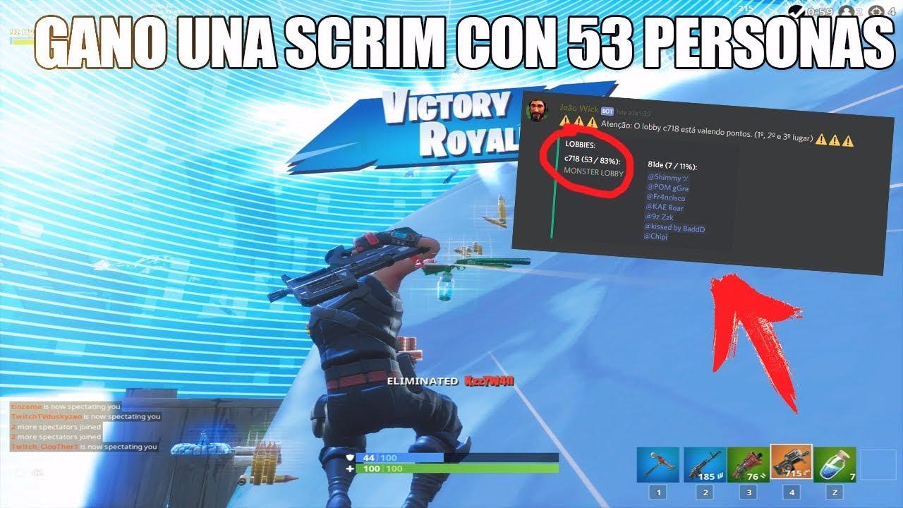 Ganando Una Scrim Profesional Con 53 Personas Fortnite By Hydr4