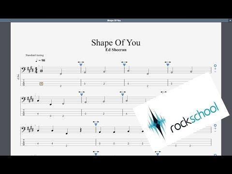 Shape Of You Rockschool Debut Grade Bass Backing Track