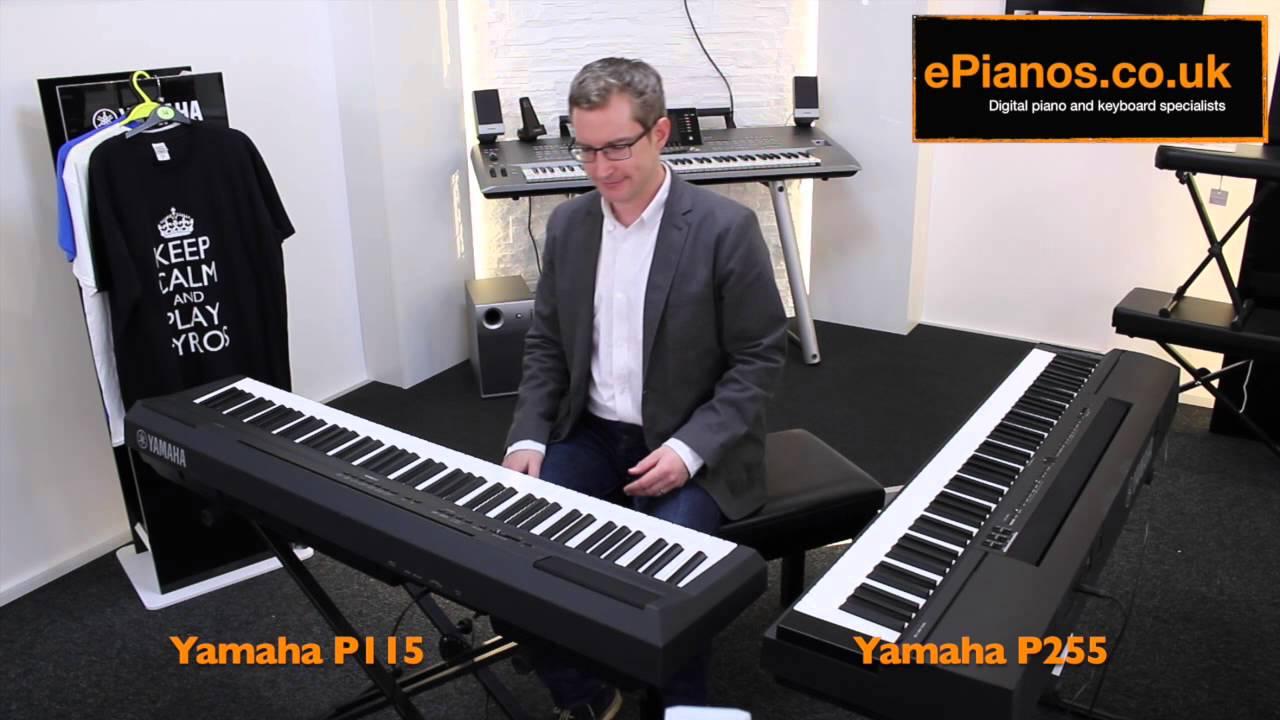 yamaha p115 v p255 comparison what piano should i buy