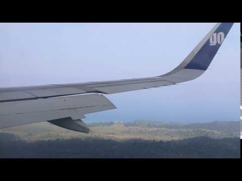 Poor airline GO Air Landing with a broken wing at Andaman Safely