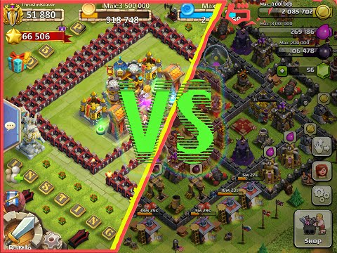 Castle Clash VS Clash Of Clans