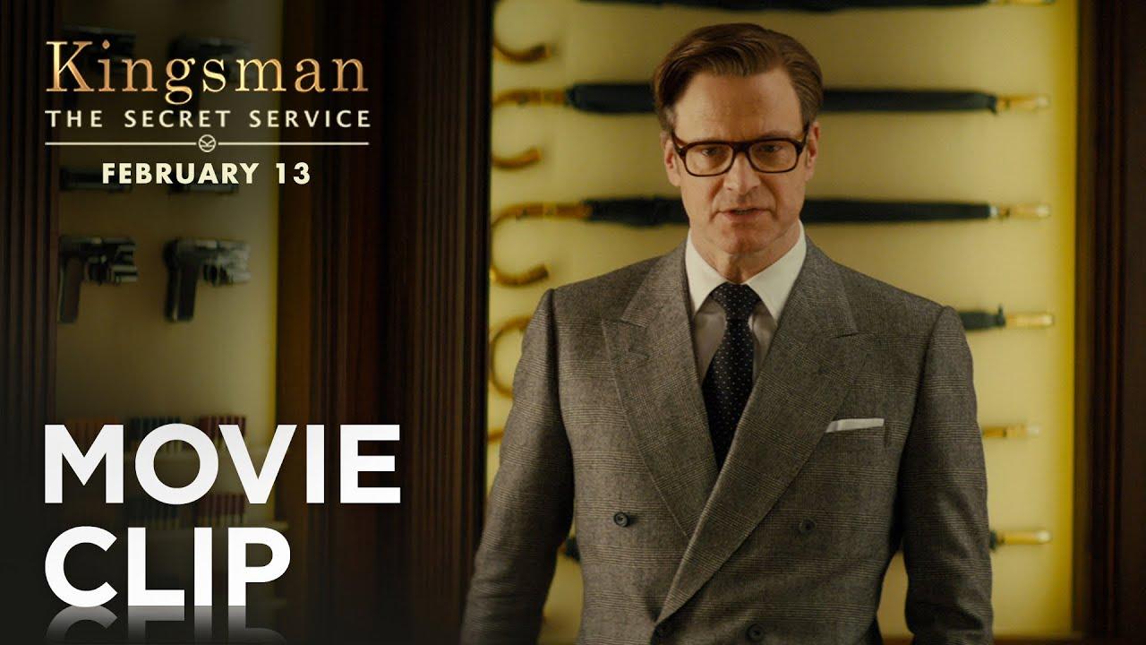 """Kingsman The Secret Service Q A With: """"Weapons Cache"""" Clip [HD"""
