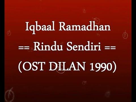 Iqbaal Ramadhan - Rindu Sendiri OST DILAN 1990 KARAOKE TANPA VOKAL