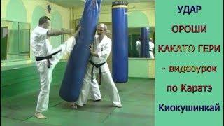 УРОКИ Каратэ Киокушинкай - Удар ОРОШИ КАКАТО ГЕРИ урок № 11 (Oroshi Kakato Geri)