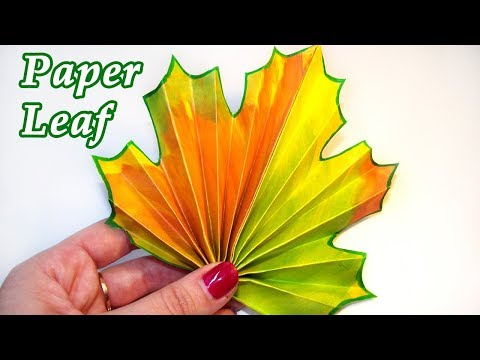 Paper Leaf DIY Craft // How to make Paper Autumn Leaves Tutorial