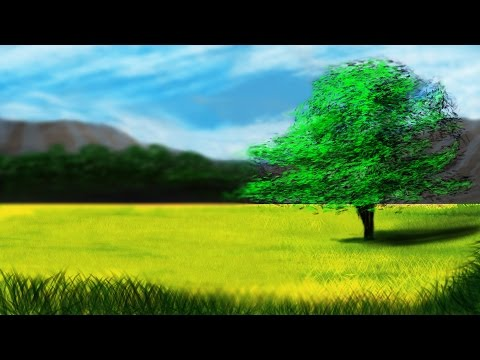 Landscape with a Tree Speed-Paint(Photoshop)