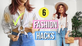 6 Fashion Hacks YOU Must Try! Make Old Clothes LOOK New!