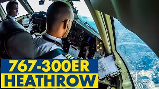 Piloting BOEING 767-300 into busy London Heathrow