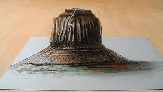 Drawing 3D Mountain Illusion on Paper - Awesome Trick Art - Vamos