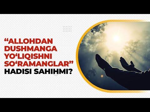 """""""Allohdan dushmanga yo'liqishni"""