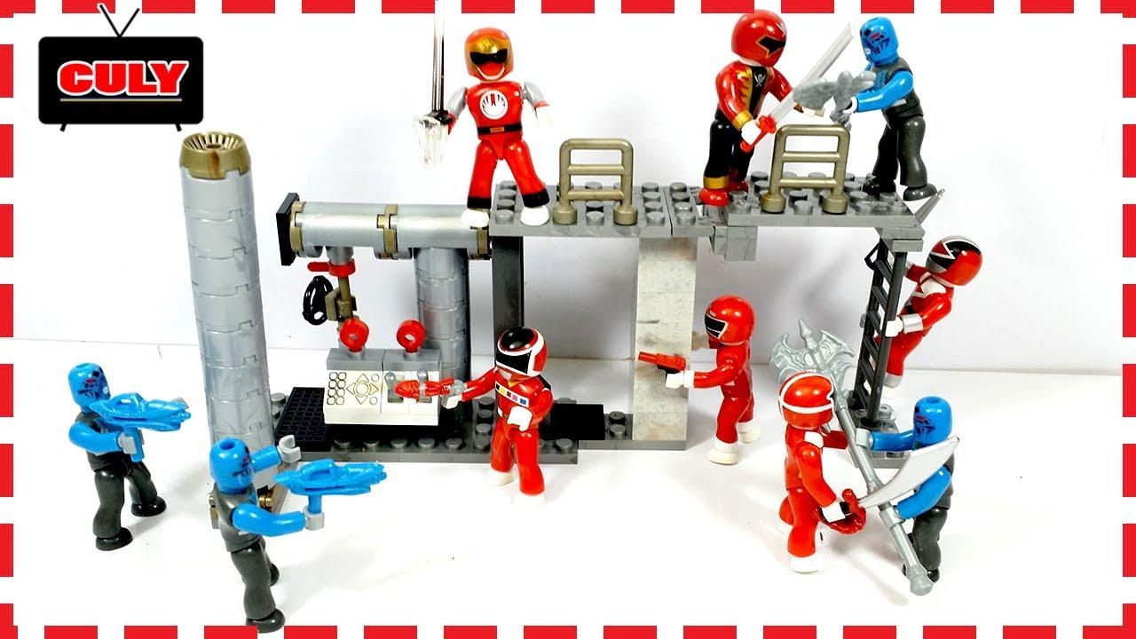 Bộ đồ chơi 6 Anh Em Siêu Nhân đỏ các loại vũ khí tí hon Mega Bloks Power  Ranger Super Megaforce