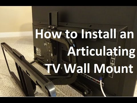 how to install an articulating tv wall mount youtube. Black Bedroom Furniture Sets. Home Design Ideas