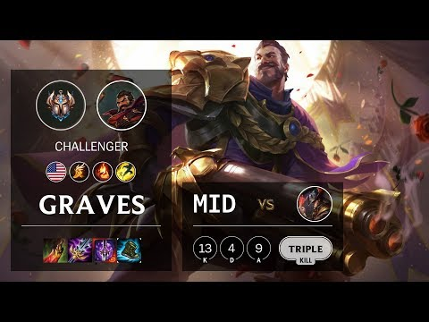 Graves Mid vs Twisted Fate - NA Challenger Patch 10.6