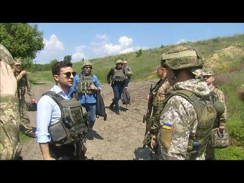 Президент Украины посетил Донбасс