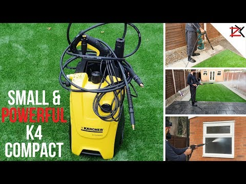 POWERFUL DIRT REMOVER | Karcher Pressure Washer K4 Compact Setup & Review