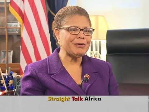 Congresswoman Karen Bass D Ca On Voa S Straight Talk