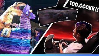 TESTAR GALEN 100.000KR GAMINGSTOL & FORTNITE IRL! (GAMESCOM 2018)