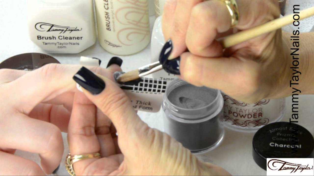 ♡ Tammy Taylor - 5 most Popular Nail Shapes with Almost Black ...