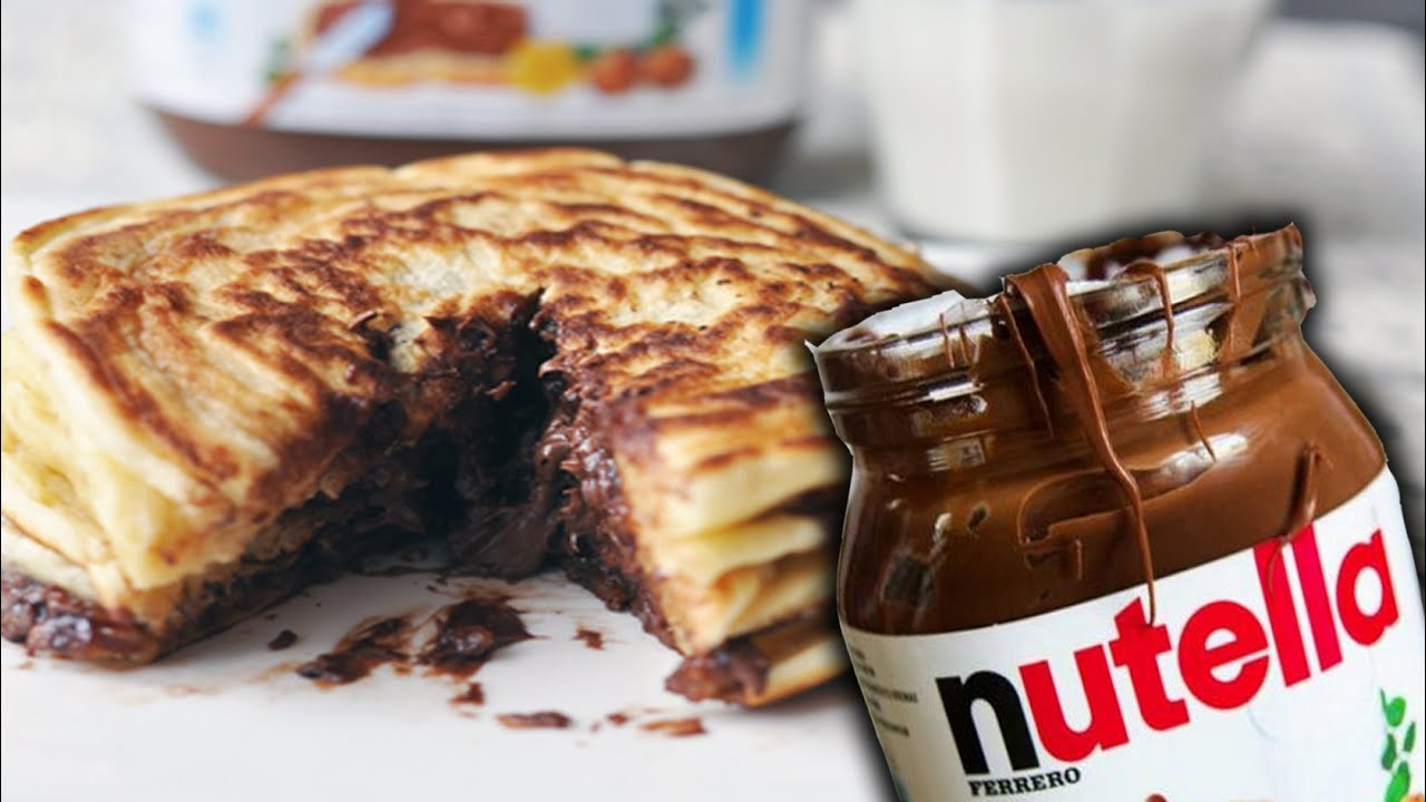 How To Make Nutella Pancakes - YouTube