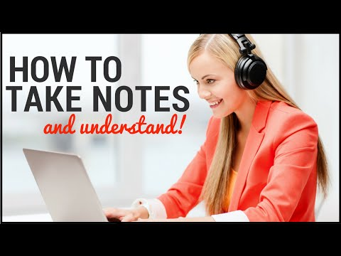 How to take note while listening