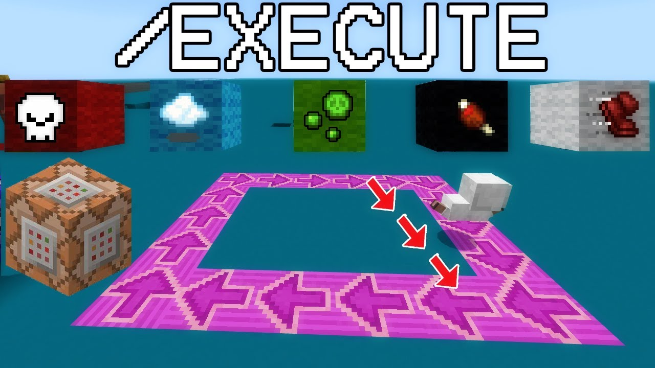 Download Minecraft Execute Command PE/Win10/Xbox/PS4/Switch Bedrock