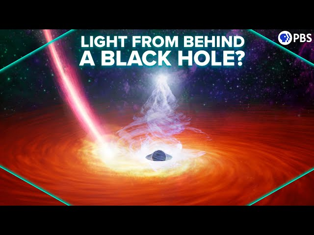 First Detection of Light from Behind a Black Hole