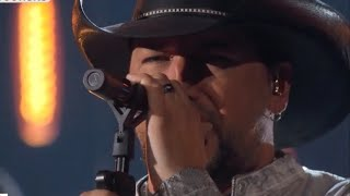 At ACM Awards, Jason Aldean performs in Las Vegas for first time since massacre