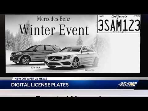 Electronic license plates coming soon to Florida