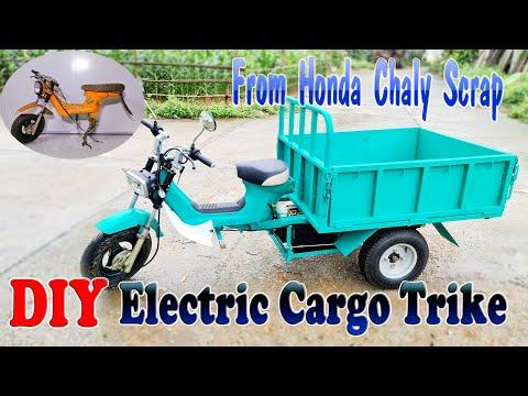 Como Construir um Triciclo Elétrico de Carga com Sucata