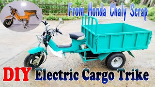 Build a Electric Cargo Trike with Honda Chaly Scrap