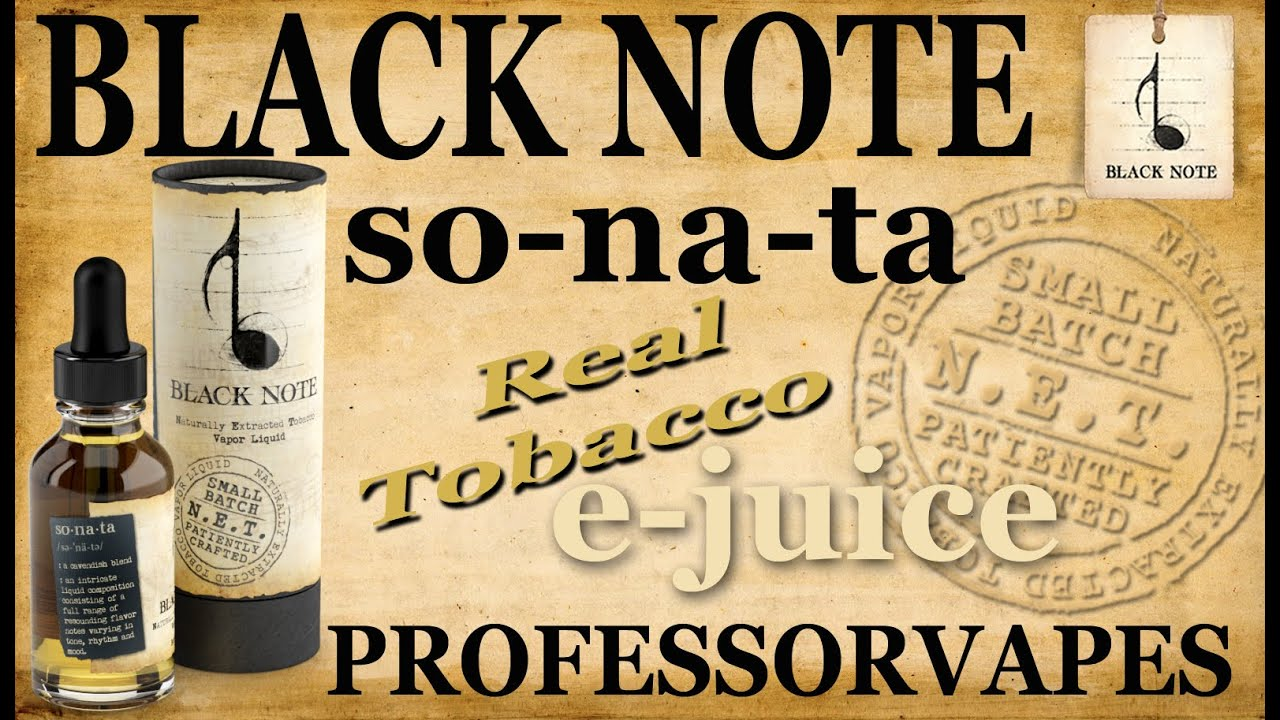 Tobacco E-Juice & Vaping Reviews | Black Note
