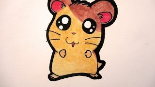 How To Draw A Cute Hamster Hamtaro Youtube
