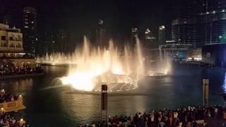 Dubai Fountain 2015 Pavarotti Nessun Dorma Burj Khalifa