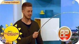 Dominiks Freitags-Challenge: Flaschenöffner | SAT.1 Frühstücksfernsehen
