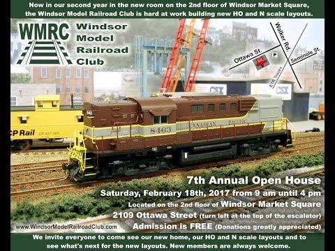 The 7th Annual Windsor Model Railroad Club Open House!