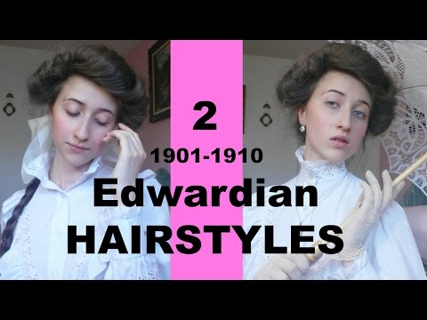 2 Edwardian Hairstyles (Gibson girl)