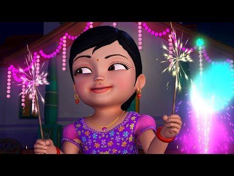 Chinnu Telugu Deepavali Kids Song | Telugu Rhymes for Children | Infobells