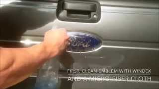 How to PlastiDip Ford Emblem