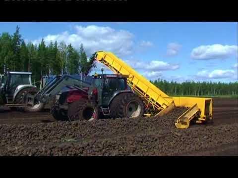 Sod peat production and harvesting.  Suokone provides full range of sod peat machinery