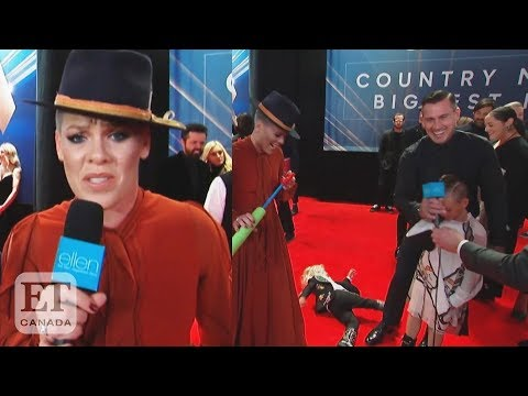 Pink's Disastrous Red Carpet Interview At The CMA Awards