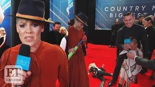 Pinkand39s Disastrous Red Carpet Interview At The Cma Awards