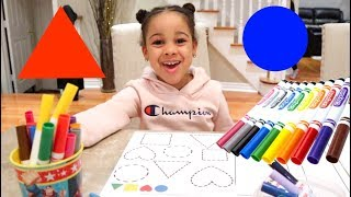 Learn Shapes And Colors with Cali | FamousTubeKIDS