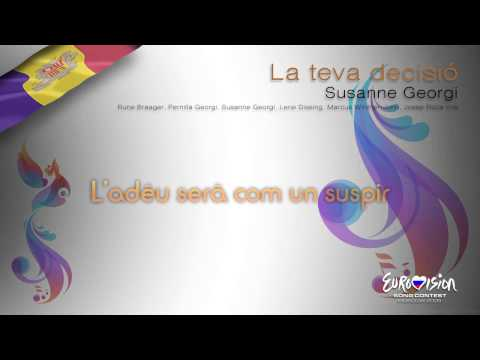 """Susanne Georgi - """"La Teva Decisió"""" (Andorra) - [Karaoke version]"""