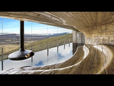 Timelapse movie tours Snøhetta's Reindeer Observation Pavilion in Norway