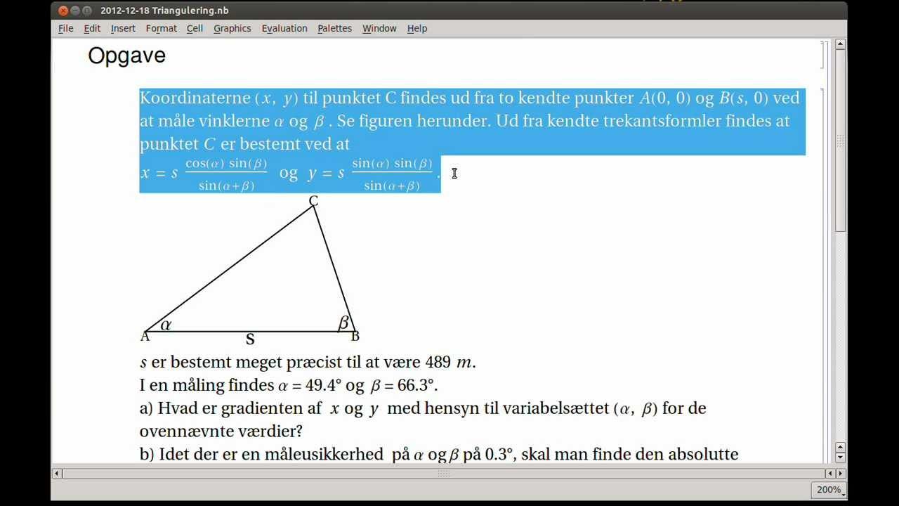 Funktion af flere variable, hvordan håndteres usikkerheder på begge variable? Mathematica