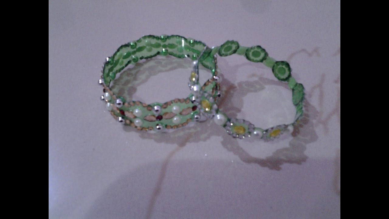 Best out of waste plastic bottle elegant green bangles for Best out of plastic