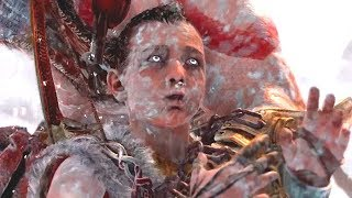 God of War PS4 - Atreus summons the World Serpent