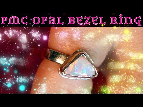 PMC Ring - Bezel Setting with Silver Clay - Precious Metal Clay Tutorial